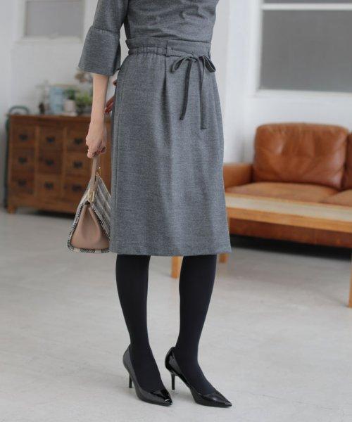 NATURAL BEAUTY(ナチュラル ビューティー)/◆ウールジャージセットアップスカート/0188220115