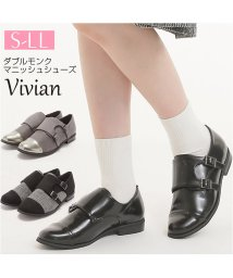 Vivian/ダブルモンクマニッシュシューズ/501287079