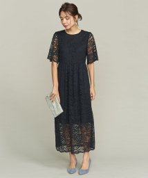BEAUTY&YOUTH UNITED ARROWS/BY DRESS フラワーレースロングドレス/501289622