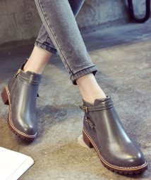 miniministore/ブーツ ショートブーツ レディース 靴 ローヒール ファスナー付き 歩きやすい 美脚/501290682