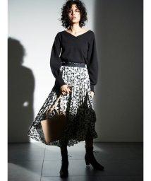 Mila Owen/アシンメトリーヘムプリーツスカート/501290759