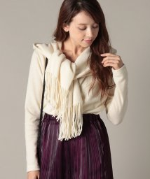 beautiful people/wool fringe jersey hooded stole tops/501176614