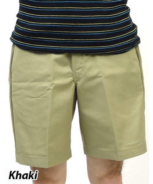 """ディッキーズ dickies 8"""" Relaxed Fit Traditional Flat Front Shirt"""