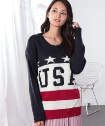 ANAP/USA国旗柄ジャガードニット/501278854