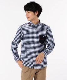 GLOSTER/オックスハンドステッチシャツ/501280379