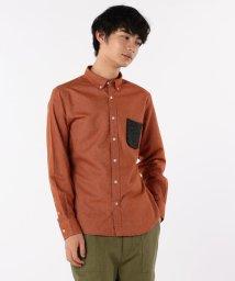 GLOSTER/オックス起毛 ニットポケットBDシャツ/501280380
