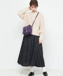 NICE CLAUP OUTLET/【natural couture】ドットイレヘムスカート/501284667
