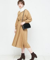 NICE CLAUP OUTLET/【natural couture】レーヨンドットワンピース/501284672