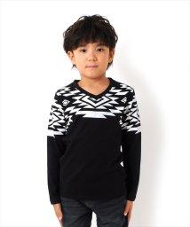 GLAZOS/Vネックネイティブプリント長袖Tシャツ[2色展開]/501293561
