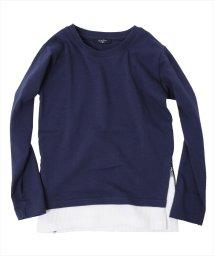 GLAZOS/サイドファスナー・レイヤード厚手長袖Tシャツ[2色展開]/501293566