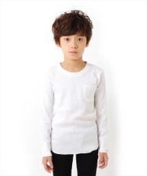 GLAZOS/シンプルワッフル長袖Tシャツ[2色展開]/501293568