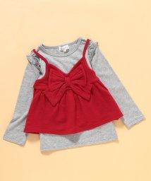 ROPE' PICNIC KIDS/【ROPE' PICNIC KIDS】リボンニットキャミTシャツ/501294671