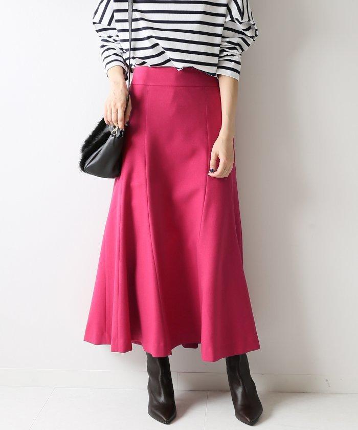 Spick & Span バックボタンフレアスカート