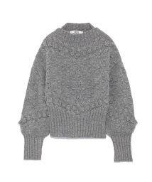 FURFUR/ダイヤ柄短丈セーター/501295392