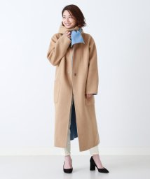 Demi-Luxe BEAMS/【カタログ掲載】【BAILA11月号掲載】Demi-Luxe BEAMS / ストール付き リバーシブルコート/501295430