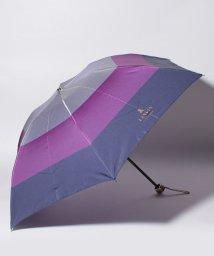 LANVIN Collection(umbrella)/LV 婦人ミニポリエステルツイル先染めボーダ/501269873