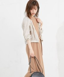 NICE CLAUP OUTLET/【natural couture】シャーリングブルゾン/501269951
