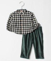 petit main/チェックシャツ×コーデュロイパンツセット/501273324