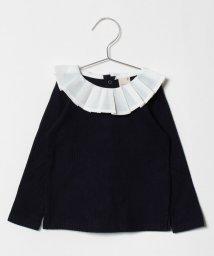 petit main/衿プリーツTシャツ/501273327