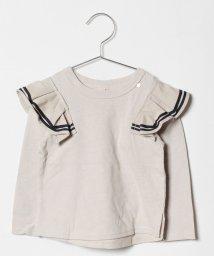 petit main/ライン入りフリルつきTシャツ/501273329