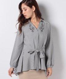 axes femme/刺繍ロングシャツ/501274146