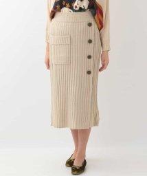Jocomomola/デザインリブニットスカート/501295509