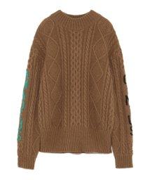FURFUR/スリーブジャガードセーター/501295604