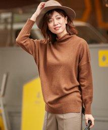 ICB(LARGE SIZE)/【カシミヤ混】Linda ハイネックニット/501295808
