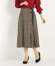 STRAWBERRY FIELDS/DVグレンチェックデシン スカート/501253350