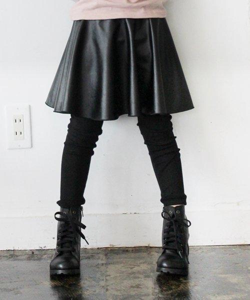 Rora(ローラ)/Rora ブラックスカートパンツ/10005284