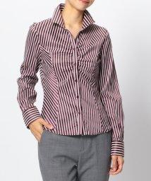 NARA CAMICIE/ミラノストライプスタンドカラーシャツ/501293744