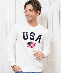 CavariA/CavariA【キャバリア】USAサガラ刺繍クルーネック長袖裏毛スウェットトレーナー/501295920