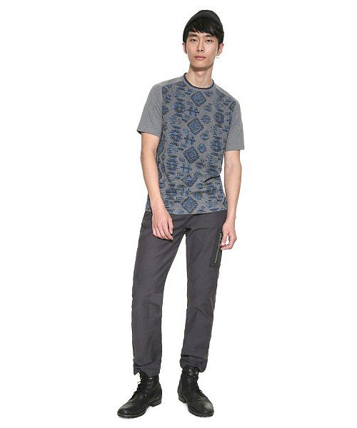 「Desigual/デシグアル」ジャガード織半袖Tシャツ