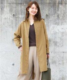 HAPPY EXP/ピーチ生地のシャツワンピ/501288300