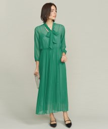 BEAUTY&YOUTH UNITED ARROWS/BY DRESS ジョーゼットボウタイプリーツドレス/501298774