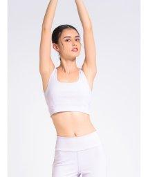 emmi yoga/【emmi yoga】エンボスレースアップブラトップ/501303925