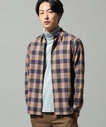 JUNRed/ネルチェックシャツ/501304121