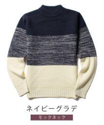THE CASUAL/(スプ) SPU 鹿の子編み モックネック/クルーネック/Vネック ニット/500702425