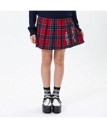 ALGY/ニコ☆プチ10月号掲載 |チェックタテロゴプリーツスカート/501217063