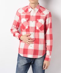 LEVI'S MEN/CLASSIC WESTERN BIFORA SUNSET RED PLAID/501271023