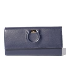 Salvatore Ferragamo/【Salvatore Ferragamo】CITY/長財布【NAVY/PALE GREY】/501283660
