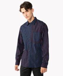 TOMMY HILFIGER MENS/レジメンタルパッチワークシャツ/501288872