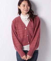 axes femme/ボリューム袖ニットカーデ/501290009