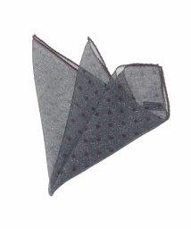 MICHEL KLEIN HOMME/ポルカドットプリントポケットチーフ/501304889