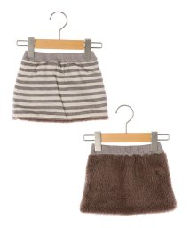 SHIPS KIDS/SHIPS KIDS:ボーダー×ボア リバーシブル スカート(80~90cm)/501305458
