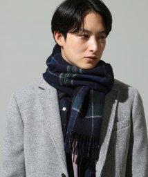JUNRed/カシミヤ混リバーシブルマフラー/501305601