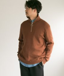 URBAN RESEARCH/HALF ZIP RIB KNIT/501308433