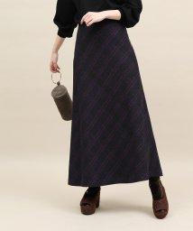 ROPE' mademoiselle/バイヤスチェックロングスカート/501293384