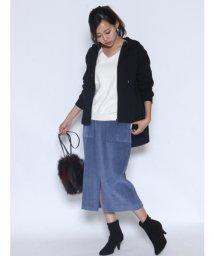 LASUD/【ラディエイト RADIATE】コーデュロイスリットタイトスカート/501294436