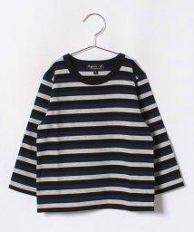 agnes b. ENFANT/JV49 E TS  ボーダーTシャツ/501299299